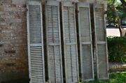 1890s Shutters Window Wood Louver Antique Shabby Farmhouse Architectural Salvage