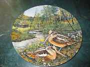 The Woodcock By Edwin Knowles Collectable Plate