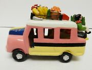 Colombia Clay Bus Ceramic Terracotta Folk Art Pottery Hand Crafted 5l X 3.5t