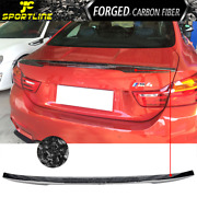 Fits 15-20 Bmw M4 F82 Coupe V Style Trunk Spoiler Forged Cf
