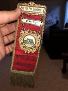 Pony Montana Fire Chief Early Western Ribbon Gold Mining Isdell Mercantile Ghost