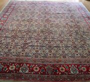 Handmade Antique Floral 1930 Wool Oriental Rug Multi Blue Green 7and039 X 10and0399