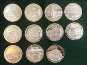 Set 11 All Same Serial 681 California Missions Medallic .999 Proof Silver Medal