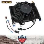 Aeroflow Competition Transmission Oil Cooler Fan And Switch 13.5x9x3.5 1/2 Npt