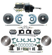 1964-66 Ford Mustang Front And Rear Power Disc Brake Conversion, 4 Wheel Disc Kit