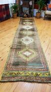 Vintage Bohemian 1980and039s Turkish Tribal Oushak Runner 2andrsquo6 Andtimes 12and0393