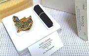 🌐 Jay Strongwater F/ Estee Lauder Butterfly Perfume Compact In Orig Boxes Rare