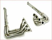 Stainless Mhp Header And Side Pipe For Chevrolet 1965 To 1974 Corvette Big Block