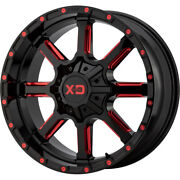 Xd Series Xd838 Mammoth 24x14 8x180 Et-76 Blk Milled/red Tint Qty Of 4