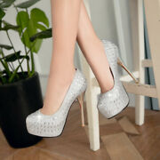 Bling-bling Shoes Womens High Heels Clubwear Ladys Pumps All Seasons Cocktail