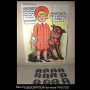 Scarce Buster Brown And Tige Pin The Necktie On Buster Game Complete R F Outcault