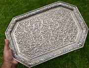 Antique Indian Silver Tea Tray. Kutch. 1890. Finest Quality. 1180 Gms.
