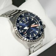 Citizen Stainless Steel Automatic Marine Sports Menand039s Watch Nh8389-88l