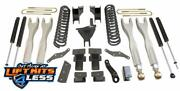 Maxtrac Suspension K943341l 4 Front/rear Forged Arms Shock For 17-19 Ford F-250