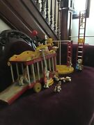 1962 Fisher Price Junior Circus Wagon 900 Complete Set 30 Pieces With Red Ball