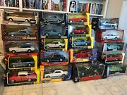 43 Diecast Cars Scales Of 118 And 124 Various Models Years And Colors.