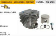 Cylinder And Piston Chainsaw Husqvarna Apps Hu 55 Rancher Ø 1 13/16in