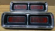 1968 Chevrolet Camaro Rs/ Ss Used Tail Light Lens And Bezel Set 5959943 5959944