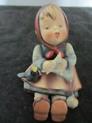 Hummel Germany 69 5 1/4 Signature And Full Bee Marks Happy Pastime Figurine