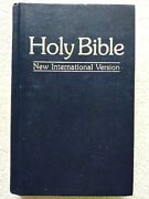 Holy Bible New International Version By Ibs Word Of Christ In Black Copyri 1984