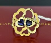 Carrera Y Carrera 18k Yellow Gold Purple Heart Cut Iolite Cluster Cocktail Ring