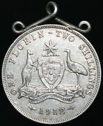 1912 | Australia One Florin Two Shillings And039mountedand039 | Silver | Coins | Km Coins