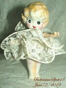 Antique 30and039s Japan Kewpie Flapper Tutu Dress Jointed Arms Bisque 5.5and039and039 Girl Doll