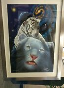 Schimmel S/n Giclee, White Tiger Magic, Signed By Siegfried And Roy ==framed==