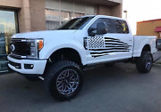 Large American Flag Decal For Pick Up Truck Hot Shot Torn Distressed Pick Size