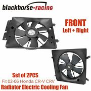 Radiator And Ac Condenser Cooling Fan Assembly Pair Fit 2002-2006 Honda Cr-v Crv