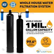 Whole House Home Water Filtration System 1 Mil. Gal. Capacity + Salt Free