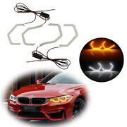 Switchback M4 Iconic Style Led Angel Eye W/relay Wirings For Bmw 2 3 4 5 Series