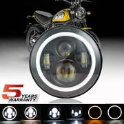 Dot 7 Led Headlight For Indian Chief Chieftain Roadmaster Springfield