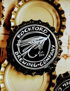 1000 Beer Bottle Caps Rockford Brewing Company. No Dent Uncrimped. Fly Fishing