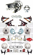 1964-72 Chevelle Wilwood Disc Brake Kit 9 Dual Chrome Power Booster And A Arms