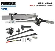 12k Reese Sc Trunnion Weight Distribution Hitch And Built In Friction Sway 66155