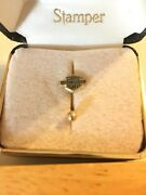 10k Yellow Gold Harley Davidson Belly Ring Thick And Heavy