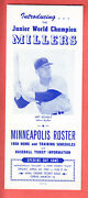 1959 Minneapolis Millers 6 Page  Schedule, Roster, Photo Brochure  Yaz