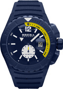 Brera Orologi Watches Braqs4804 Aquadiver Rubber Strap Watch Navy Blue With Date