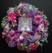 Shades Of Purple Pink Magical Sparkle Unicorn Large 24 Deco Mesh Wreath New