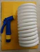 Marpac Non-kinking Coil Washdown Hose With Nozzle 1/2x15and039