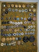 Collection Lot Of Antique Vintage Metal Buttons - Almost 100