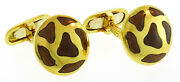 Roberto Coin Enamel Yellow Gold Cuff-links Ruby Signature Mens Accessory Italy