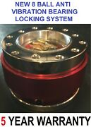 New Pro Snap Off Quick Release Steering Wheel Boss Kit Hub Adapter Red Chrome