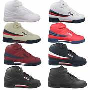 Fila Mens F13 F-13 Leather High Mid Top Casual Classic Basketball Shoes