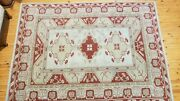 Vintage 1940-1950s Turkish Tribal Oushak Milas Rug 6and0397x 8and03911