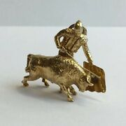 Vintage 18ct Yellow Gold Tested Matador Charm 3cm In Length