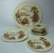 Johnson Brothers China Castle On The Lake Made In England 5-piece Place Setting