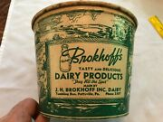 Brokhoffandrsquos Cottage Cheese Vintage 5 Lb. Waxed Cardboard Box Pottsville Pa.