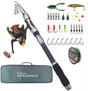 New Telescopic Fishing Pole Rod And Reel Combo Fishing Gear With Carrier Bag